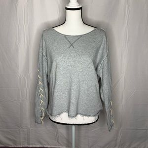Free People • Grey Crewneck Top